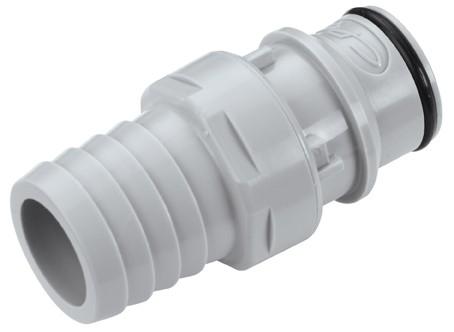 HFCD221212 - Stecker 19,0 mm Schlauchanschluss, mit Absperrventil, EPDM-Dichtung