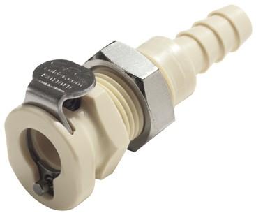 PMC160412 - Kupplung 6,4 mm Schlauchanschluss, Plattenmontage, ohne Absperrventil