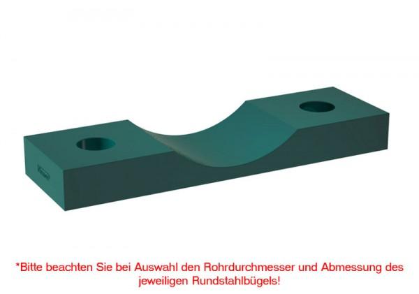 Kunststoff-Rohrunterlage RUL, lang, PP, grün