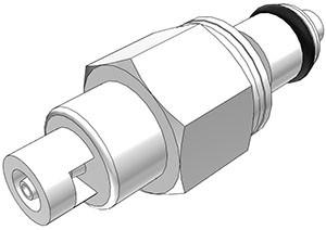 PMCD2201 - Stecker 1,6 mm Schlauchanschluss, mit Absperrventil, Buna-N Dichtung