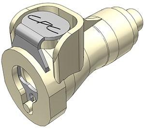 PMCD170112 - Kupplung 1,6 mm Schlauchanschluss, mit Absperrventil, EPDM-Dichtung