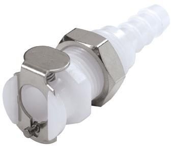 PMC1604 - Kupplung 6,4 mm Schlauchanschluss, Plattenmontage, ohne Absperrventil, Buna-N Dichtung