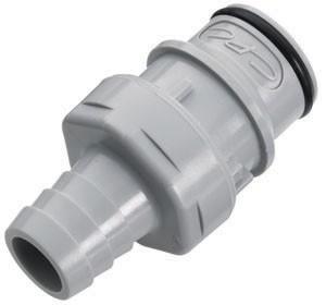 HFCD22812 - Stecker 12,7 mm Schlauchanschluss, mit Absperrventil, EPDM-Dichtung