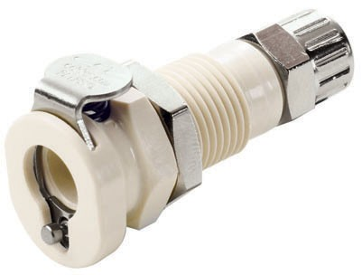 PMC120412 - Kupplung 6,4 mm AD / 4,3 mm ID Klemmringverschraubung, ohne Absperrventil