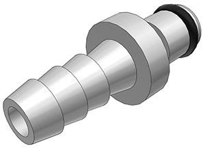 MC2204 - Stecker 6,4 mm Schlauchanschluss, ohne Absperrventil, Buna-N Dichtung