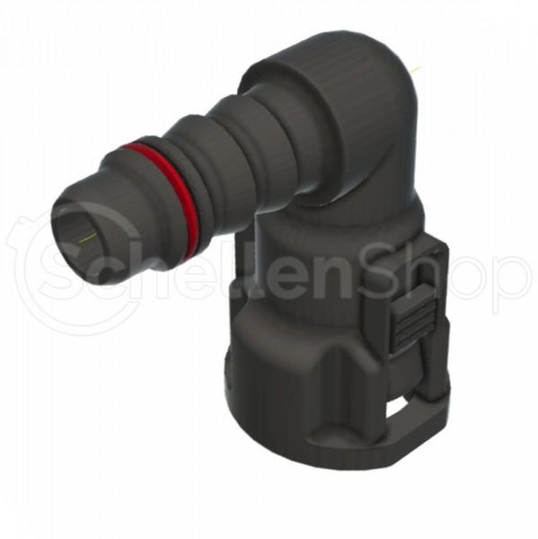 NQ-S 90°-Steckverbindung NW 10, mit 8 mm Schlauchanschluss - 715 8702 010