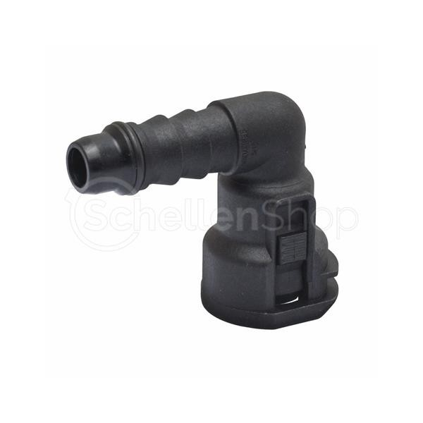 """NQ-S 90°-Steckverbindung NW 5/16"""", mit 6 mm Schlauchanschluss"""