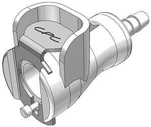 PMCD1702 - Kupplung 3,2 mm Schlauchanschluss, mit Absperrventil, Buna-N Dichtung