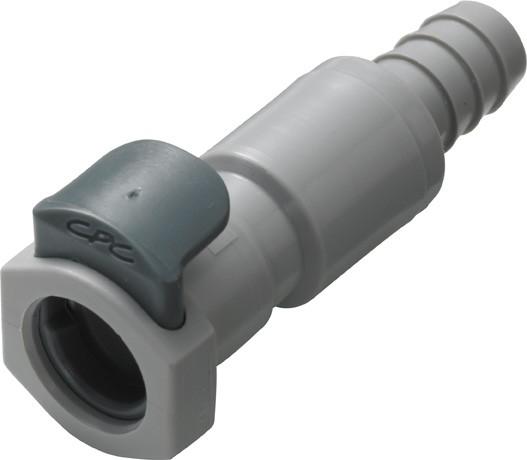 EFCD17612 - Kupplung 9,5 mm Schlauchanschluss, mit Absperrventil, EPDM-Dichtung