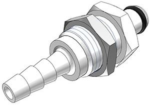 PMC4203 - Stecker 4,8 mm Schlauchanschluss, Plattenmontage, ohne Absperrventil, Buna-N Dichtung