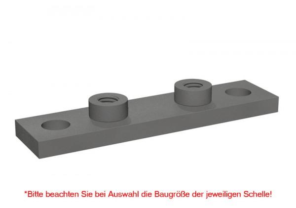 STAUFF einfache Schweißplatte SPAL-DUEB für Schwere-Baureihe (für Dübelbefestigung)