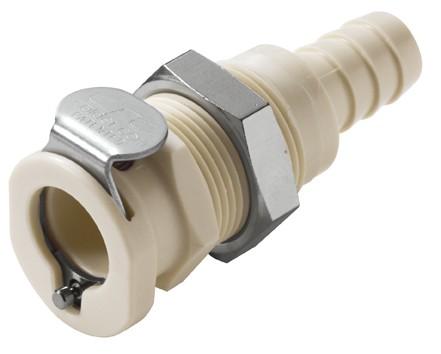 PLC1600612 - Kupplung 9,5 mm Schlauchanschluss, Plattenmontage, ohne Absperrventil, EPDM-Dichtung