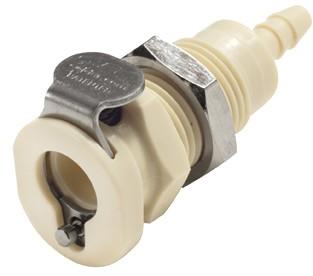 PMC160212 - Kupplung 3,2 mm Schlauchanschluss, Plattenmontage, ohne Absperrventil