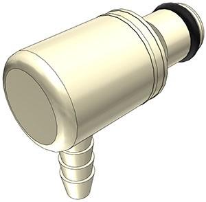 PMC230212 - Stecker 3,2 mm Schlauchanschluss, ohne Absperrventil, EPDM-Dichtung