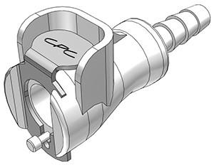 PMC1703 - Kupplung 4,8 mm Schlauchanschluss, ohne Absperrventil