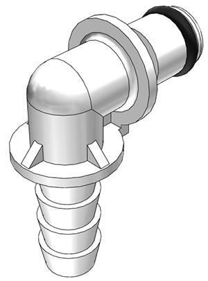 PMC2304 - Stecker 6,4 mm Schlauchanschluss, ohne Absperrventil, Buna-N Dichtung