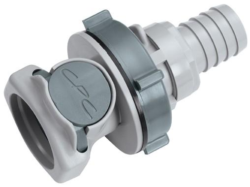 HFC161012 - Kupplung 15,9 mm Schlauchanschluss, Plattenmontage, ohne Absperrventil