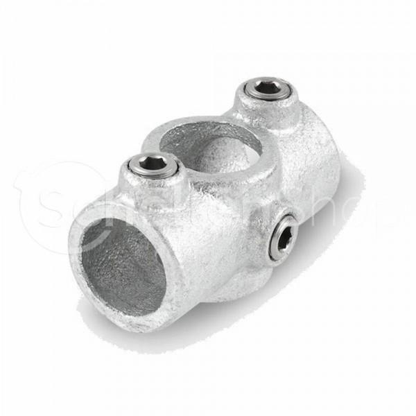 NORMAFIX® Kreuzverbinder mit 1 Durchgang / 2 Abgängen