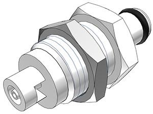 PMC4201 - Stecker 1,6 mm Schlauchanschluss, Plattenmontage, ohne Absperrventil, Buna-N Dichtung