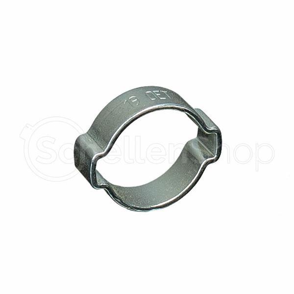 Stahl verz 2-Ohr-Schellen + 1.4301 V2A Schlauchschelle Schellen