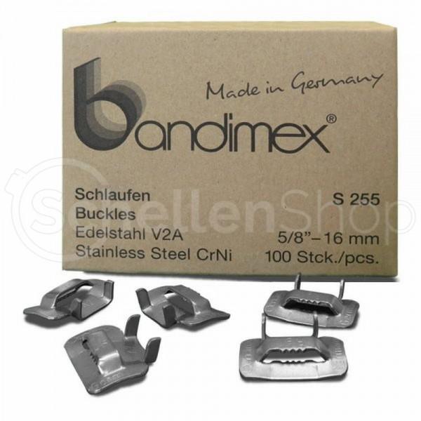 Bandimex Schlaufe für Bandbreite 16 mm (5⁄8″), V2A Edelstahl