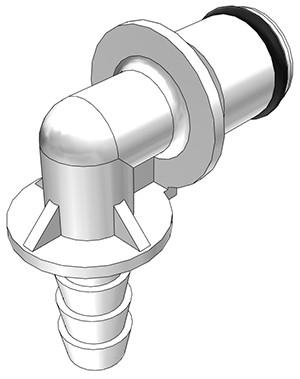 PLC23004 - Stecker 6,4 mm Schlauchanschluss, ohne Absperrventil, Buna-N Dichtung