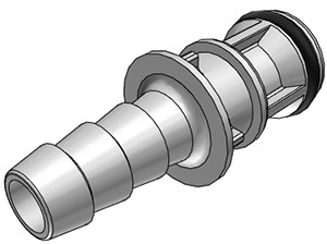 EFC22412 - Stecker 6,4 mm Schlauchanschluss, ohne Absperrventil, EPDM-Dichtung