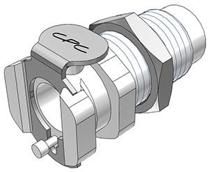 PMCD181032 - Kupplung 10-32 UNF, Plattenmontage, mit Absperrventil, Buna-N Dichtung