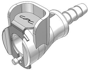 PMCD1703 - Kupplung 4,8 mm Schlauchanschluss, mit Absperrventil, Buna-N Dichtung