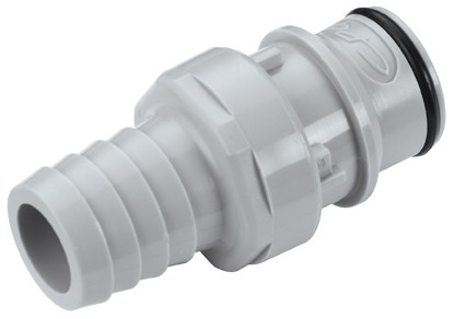 HFCD221012 - Stecker 15,9 mm Schlauchanschluss, mit Absperrventil, EPDM-Dichtung