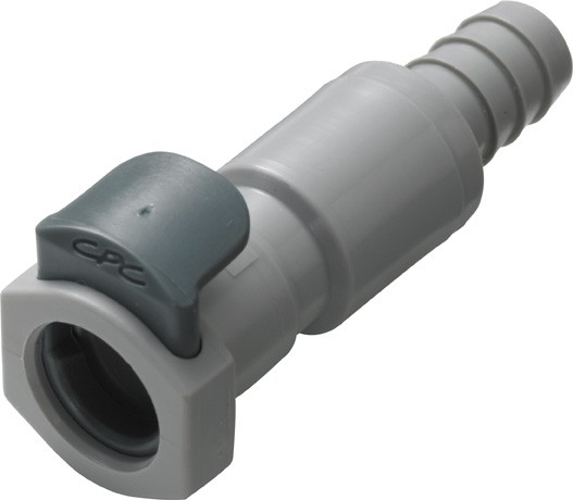 EFCD17412 - Kupplung 6,4 mm Schlauchanschluss, mit Absperrventil, EPDM-Dichtung