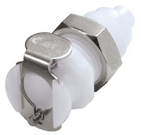 PMC1601 - Kupplung 1,6 mm Schlauchanschluss, Plattenmontage, ohne Absperrventil