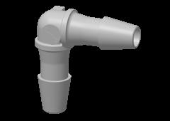HE4 - Winkel-Schlauchverbinder 3,2 mm Schlauchanschluss, Polypropylen (PP)
