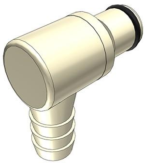 PLC2300612 - Stecker 9,5 mm Schlauchanschluss, ohne Absperrventil, EPDM-Dichtung