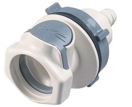 HFC16635 - Kupplung 9,5 mm Schlauch, Plattenmontage, Absperrung