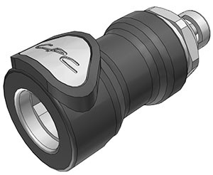 NS4D17002 - Kupplung 3,2 mm Schlauchanschluss, mit Absperrventil, EPDM-Dichtung