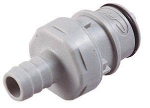 HFCD22612 - Stecker 9,5 mm Schlauchanschluss, mit Absperrventil, EPDM-Dichtung