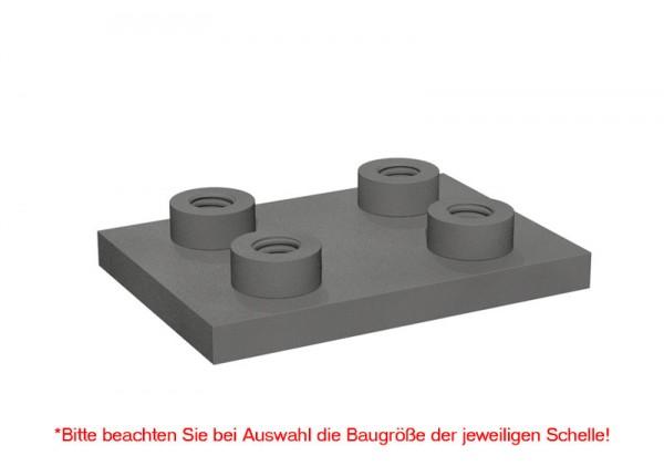 STAUFF Schweißplatte doppelt SPAS für Schwere-Baureihe, Stahl phosphatiert