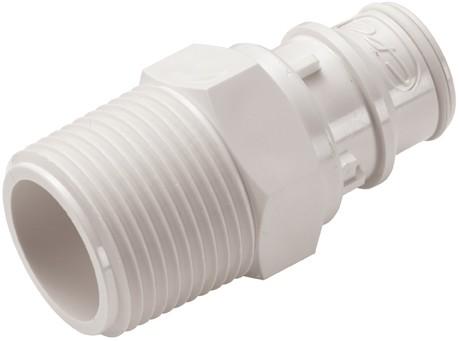 """FFC241235 - Stecker 3/4"""" NPT Außengewinde, ohne Absperrventil, Buna-N Dichtung (FDA)"""