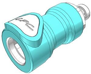NS4D1700206 - Kupplung 3,2 mm Schlauchanschluss, mit Absperrventil
