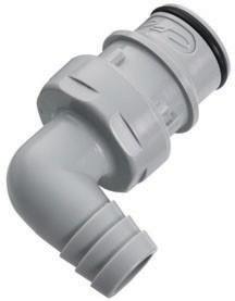 HFCD23812 - Stecker 12,7 mm Schlauchanschluss, mit Absperrventil, EPDM-Dichtung