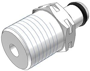 """PMC2404BSPT - Stecker 1/4"""" BSPT Außengewinde, ohne Absperrventil, Buna-N Dichtung"""
