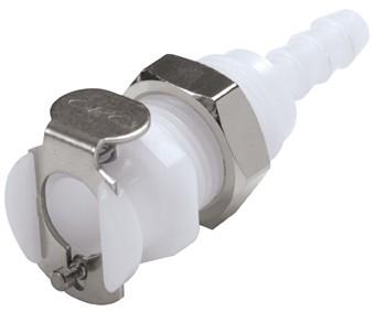 PMC1603 - Kupplung 4,8 mm Schlauchanschluss, Plattenmontage, ohne Absperrventil