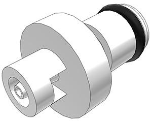PMC2201 - Stecker 1,6 mm Schlauchanschluss, ohne Absperrventil, Buna-N Dichtung