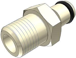 """PMC240212 - Stecker 1/8"""" NPT Außengewinde, ohne Absperrventil, EPDM-Dichtung"""