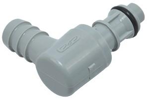 EFCD23612 - Winkelstecker 9,5 mm Schlauchanschluss, mit Absperrventil, EPDM-Dichtung